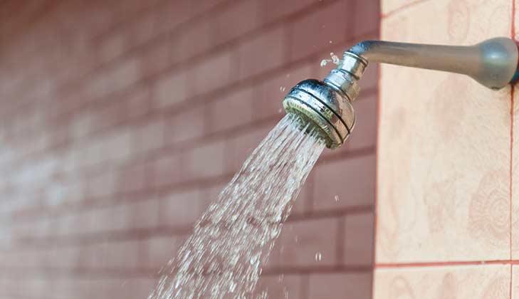 broken shower that needs repairing